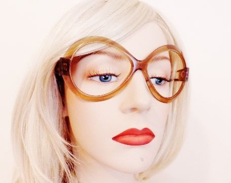 Round Lucite Polaroid Statement Glasses Frames Made In Holland
