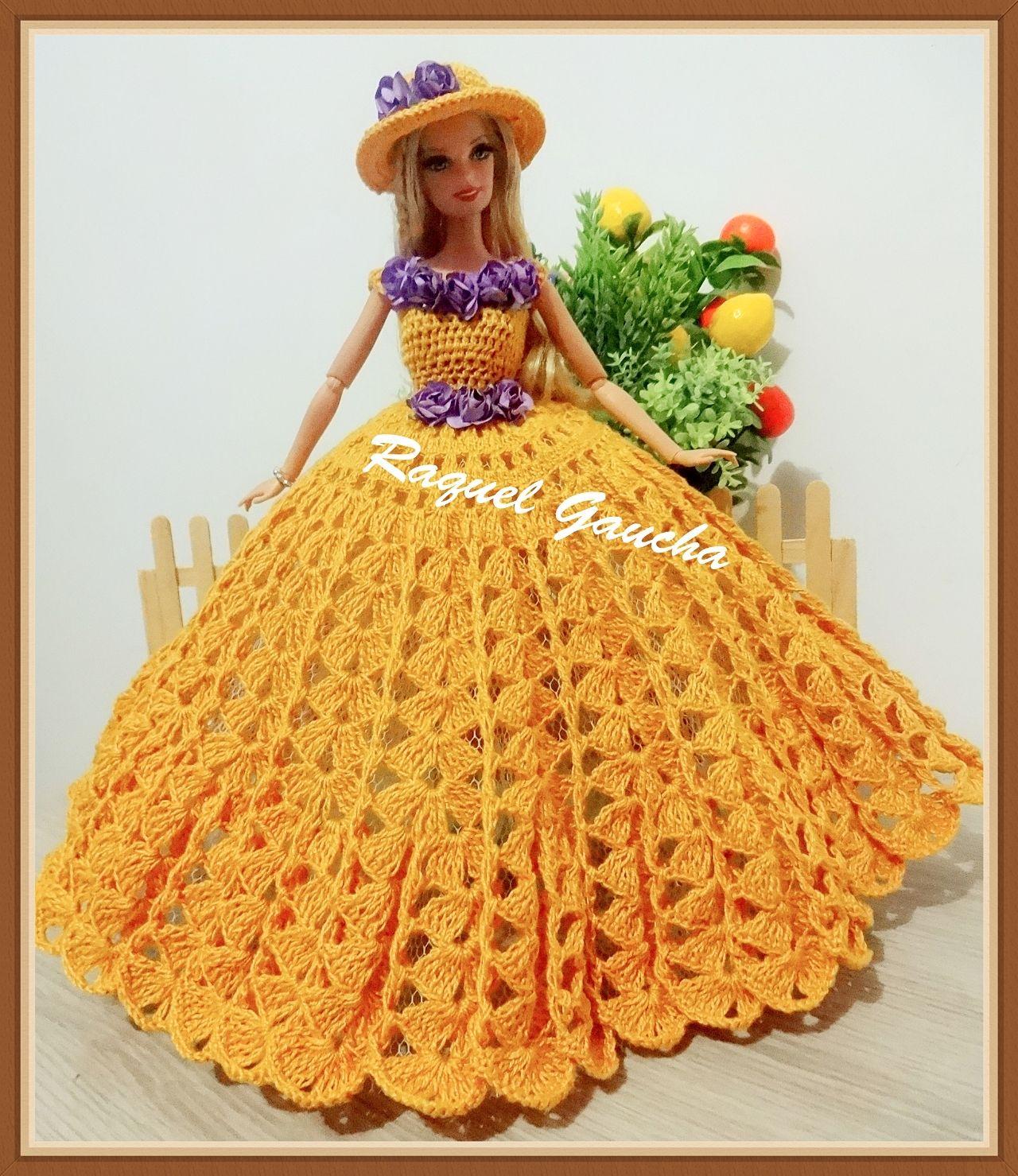 rachelcrochet.wordpress.com #Cléa1000 #Barbie #Muñeca #Doll ...