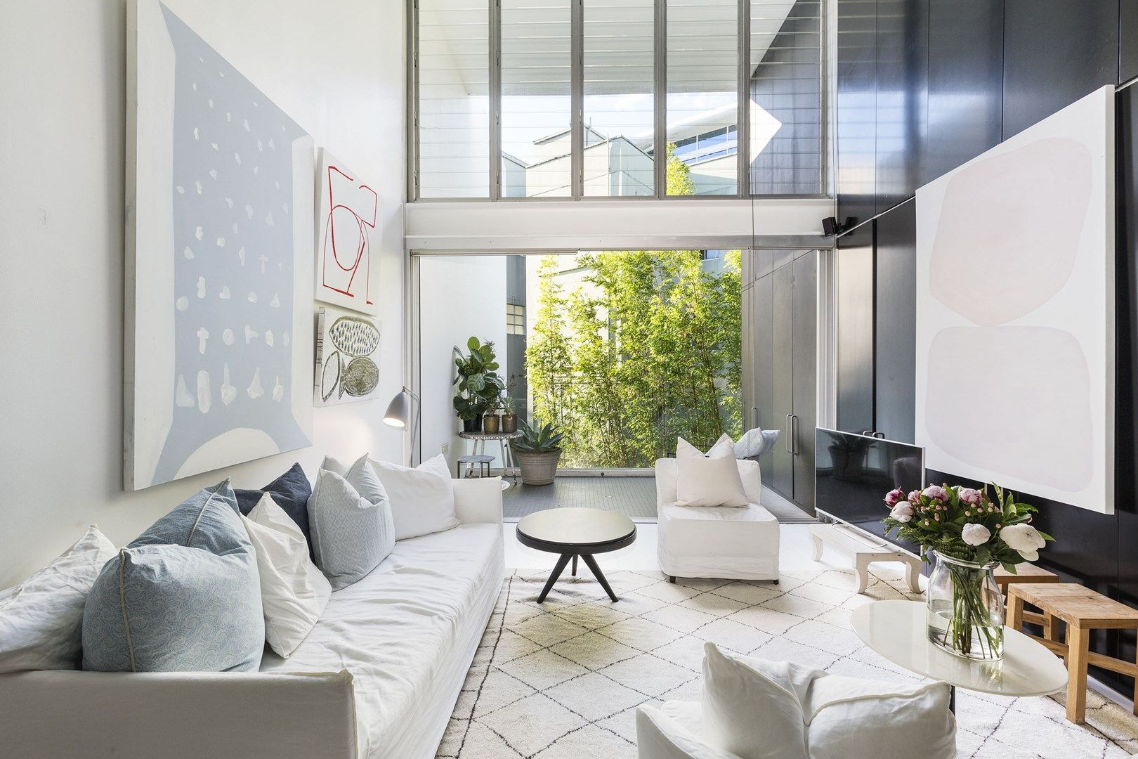 Modern Gezellig Interieur : Dit moderne speelse appartement is super mooi en sfeervol