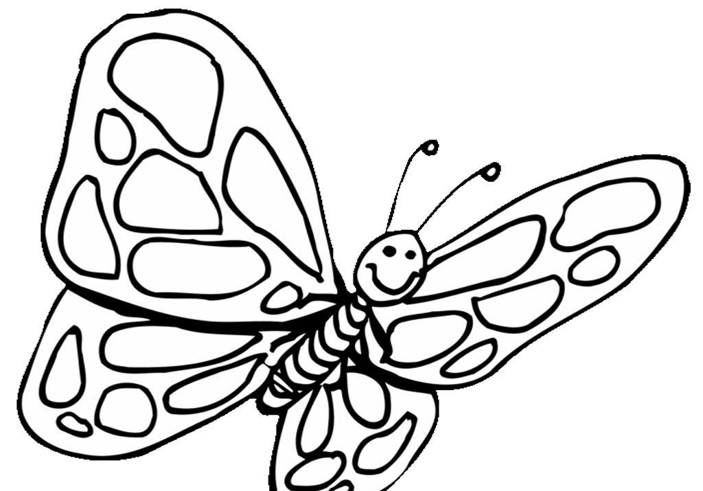 preschool coloring pages butterfly