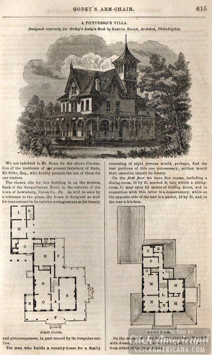 Classic home design: Picturesque villa (1862 | Villas, Vintage house ...