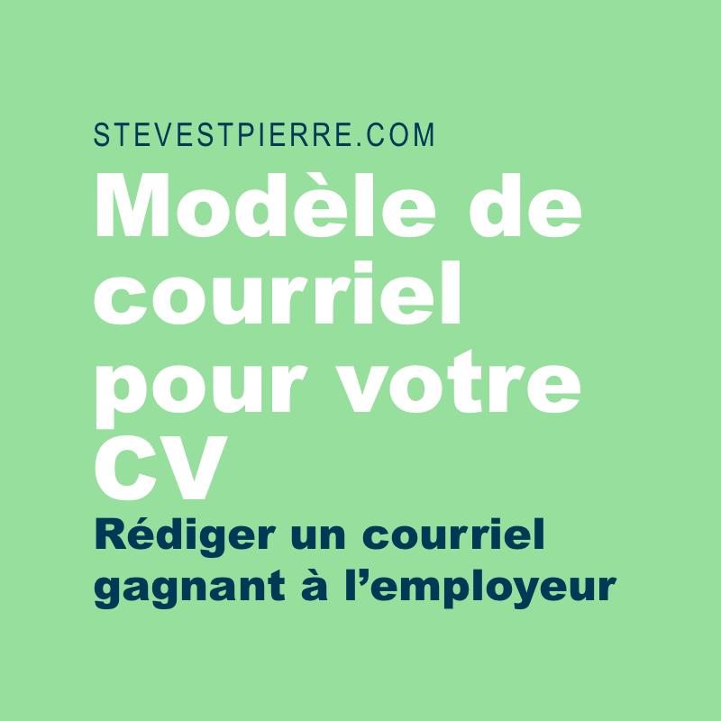 Vous Trouverez Ci Joint R Diger Un Courriel Gagnant Pour Accompagner Votre Cv Stev Resume Template Professional Professional Resume Cv Design Professional