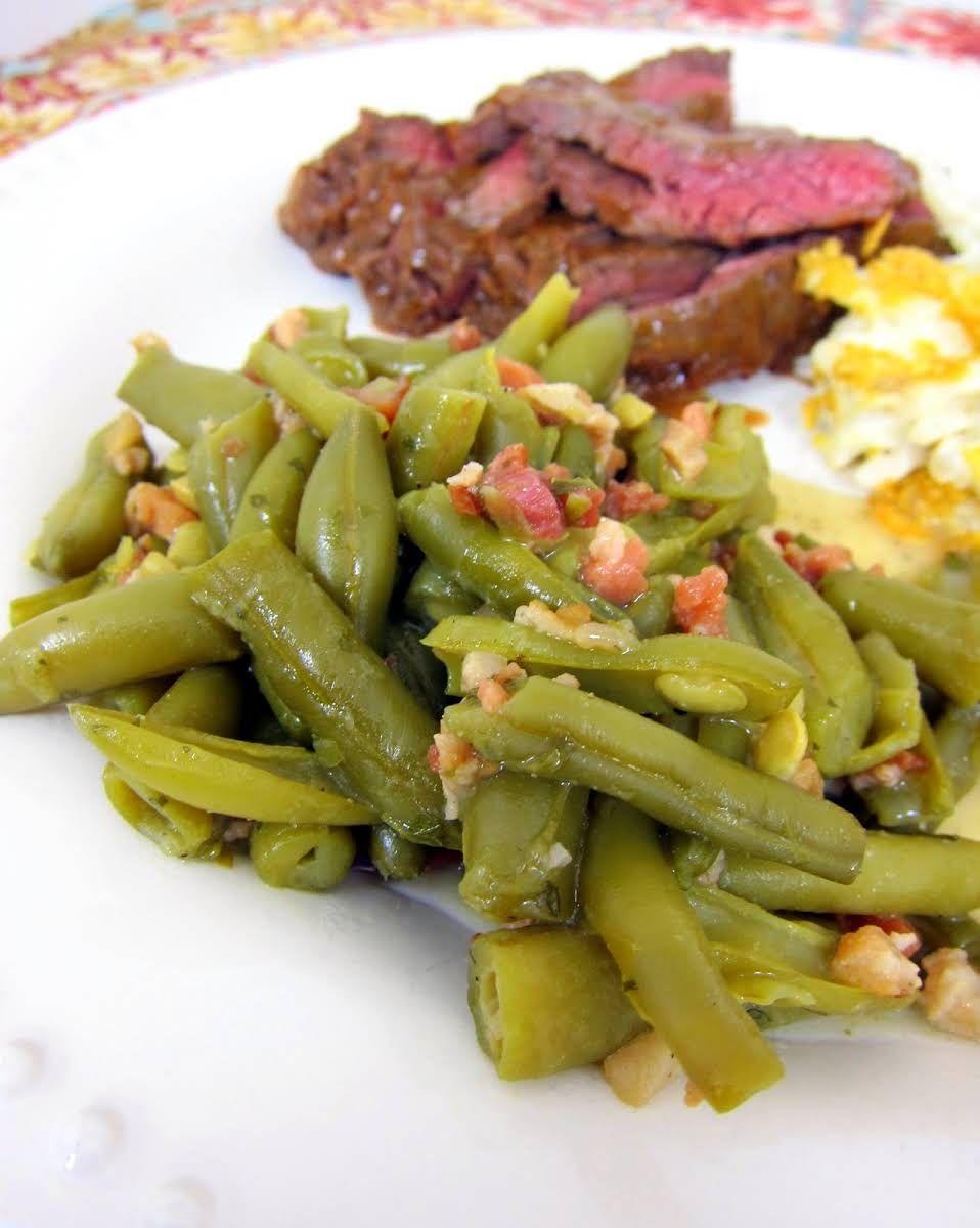 Ranch Style Green Beans Recipe   Yummly   Green bean ...