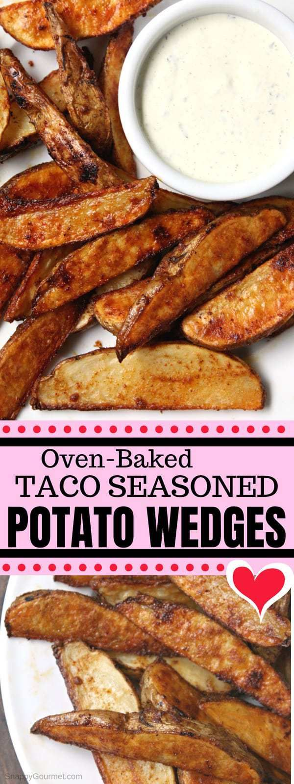 Oven Baked Potato Wedges (Taco Seasoned)