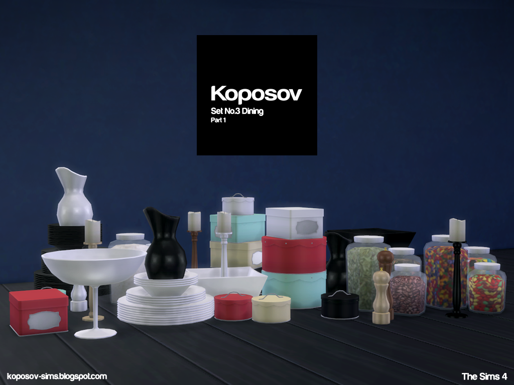 My Sims 4 Blog Kitchen / Dining Clutter by Koposov Sims