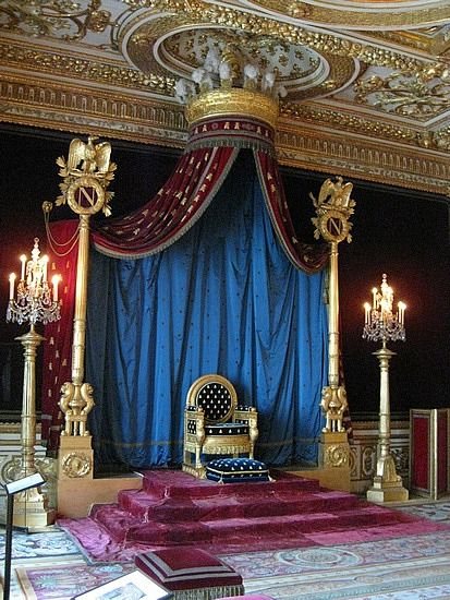 Napoleon's Throne Room, Fontainebleau, France | Favorite ...