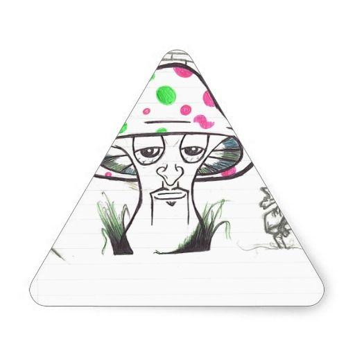 Mr. Shroom (Sketch) Triangle Stickers