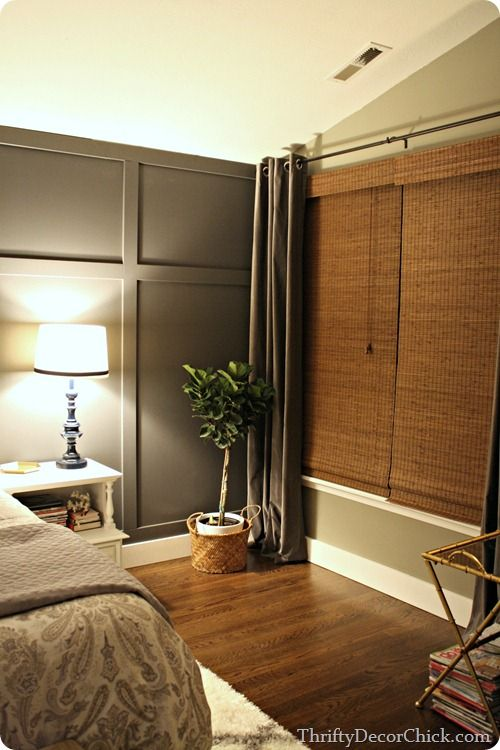 dark gray accent wall this is exactly what i want my bedroom to look like bedroom. Black Bedroom Furniture Sets. Home Design Ideas