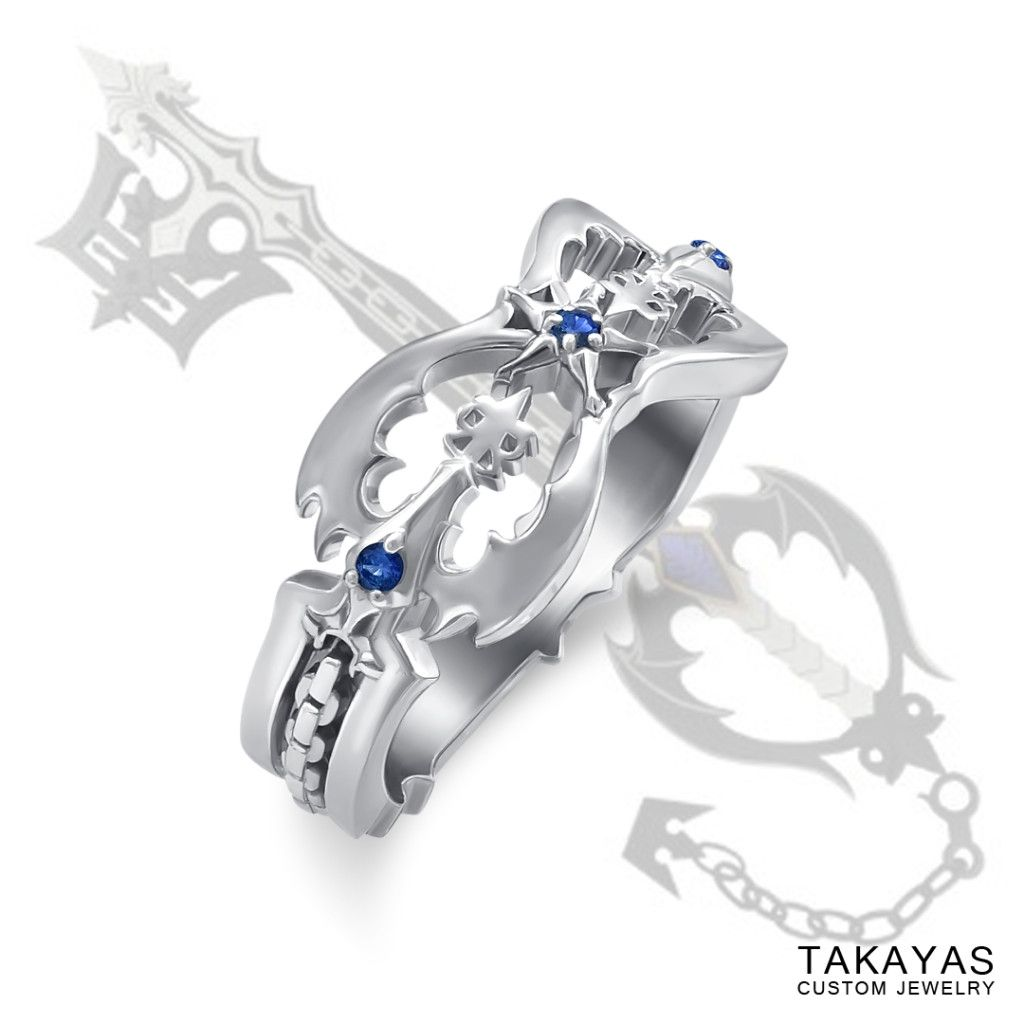 Custom Kingdom Hearts Oblivion Wedding Ring by Takayas Kingdom