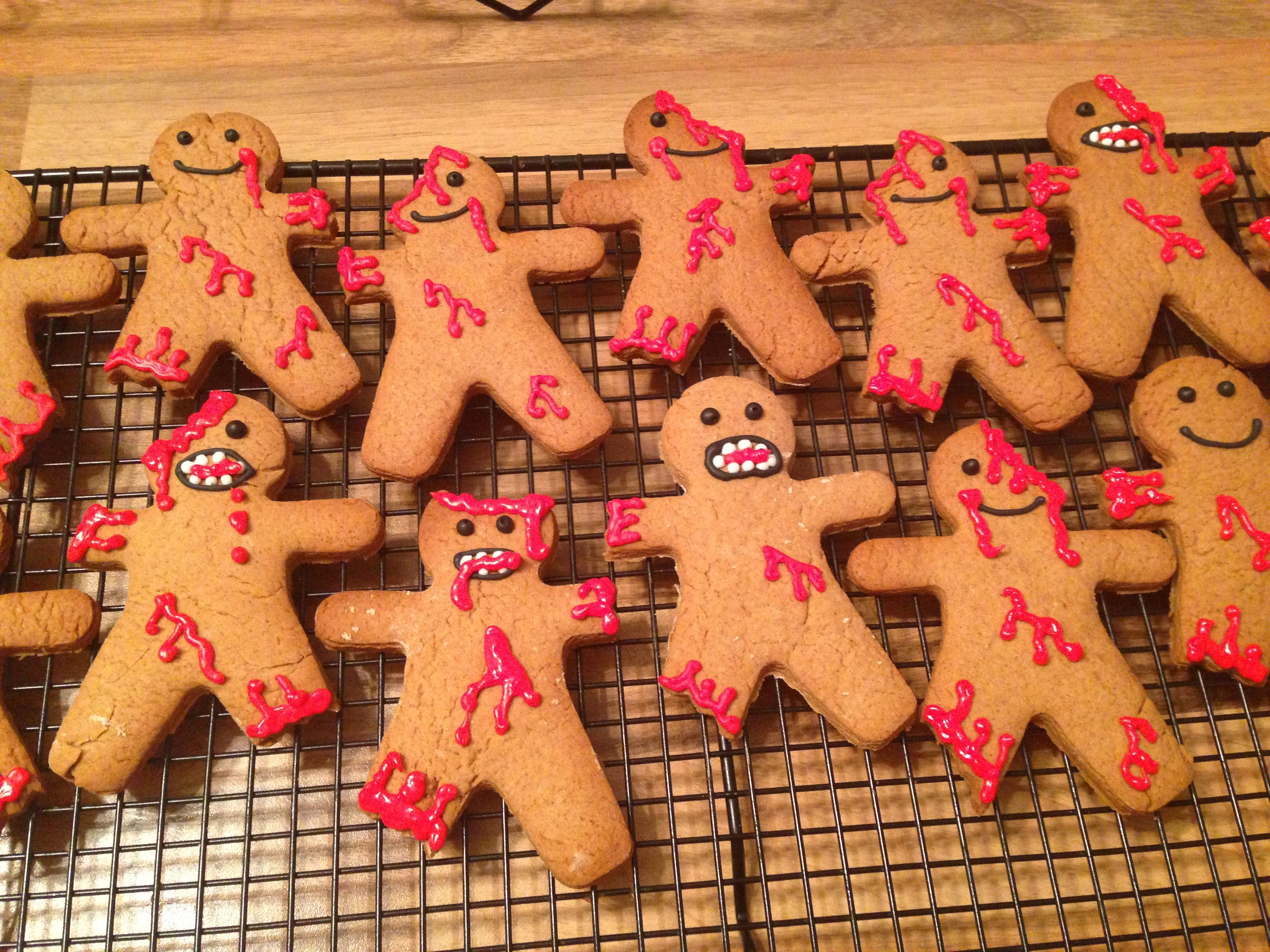 Gingerbread zombies for school Halloween bake sale #bakesaleideas