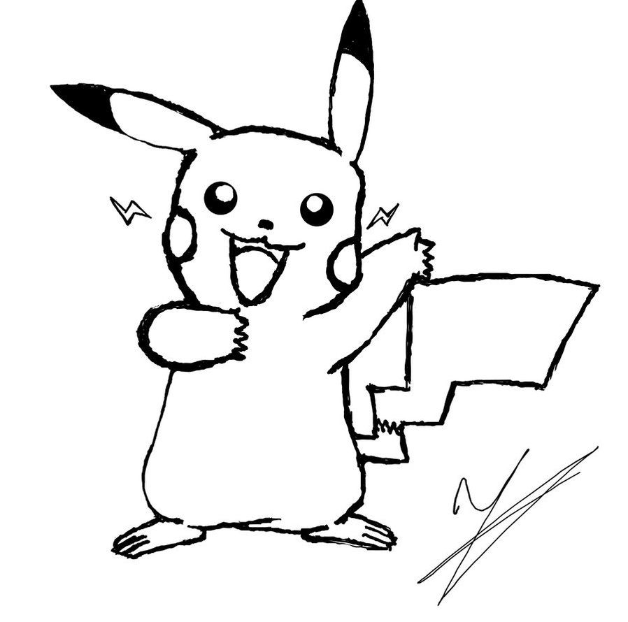 Pikachu Coloring Page Printable | Coloring/Activity Sheets | Pinterest