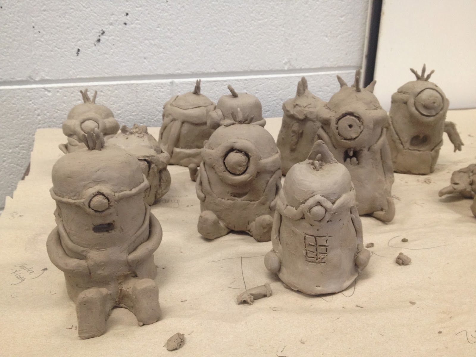 Minions garden gnomes fish and owls middle school clay