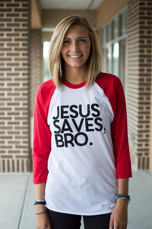 Jesus Saves, Bro. Raglan Tee!