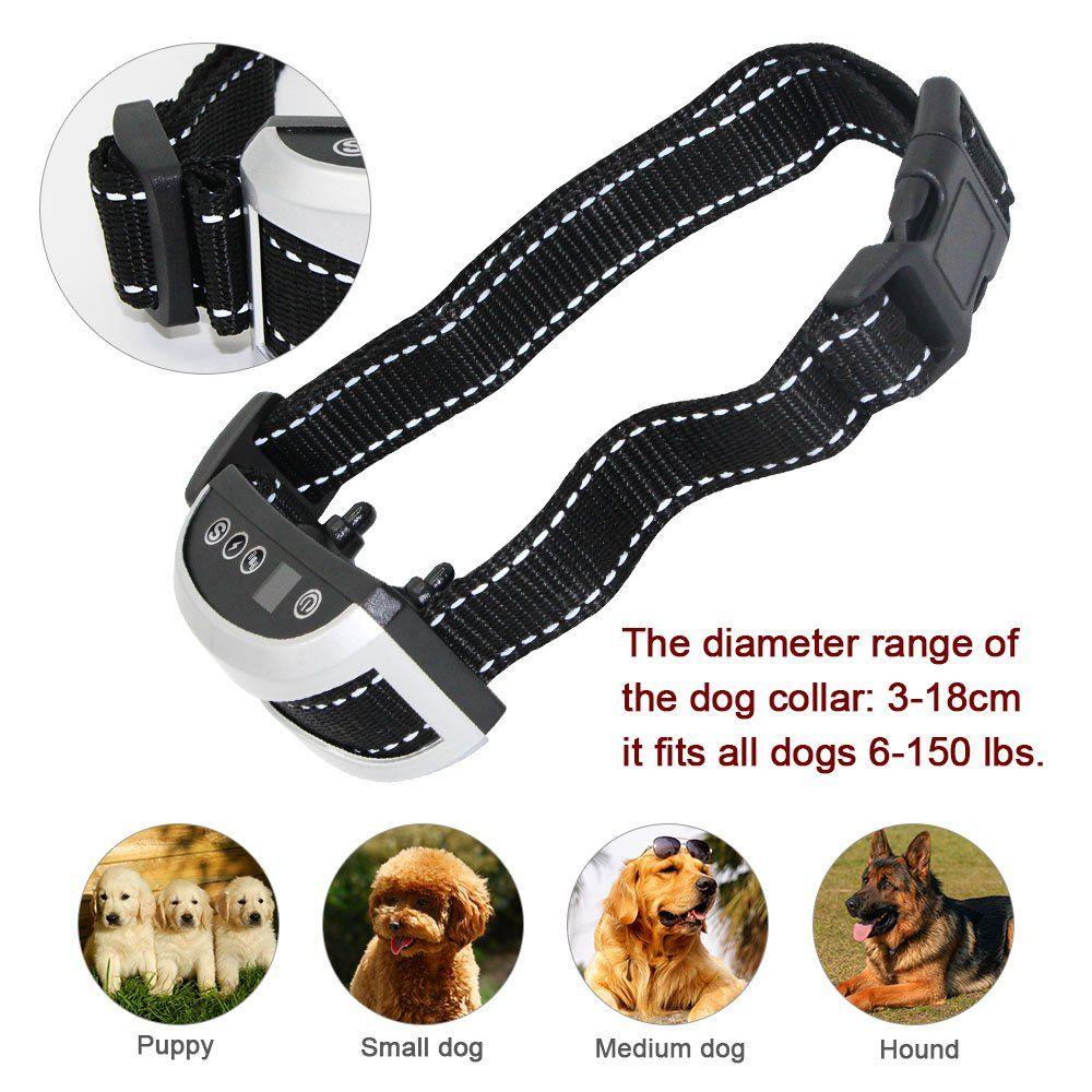 Faciab Bark Collar Shock Collar For Dogs 7 Sensitivity Rainproof