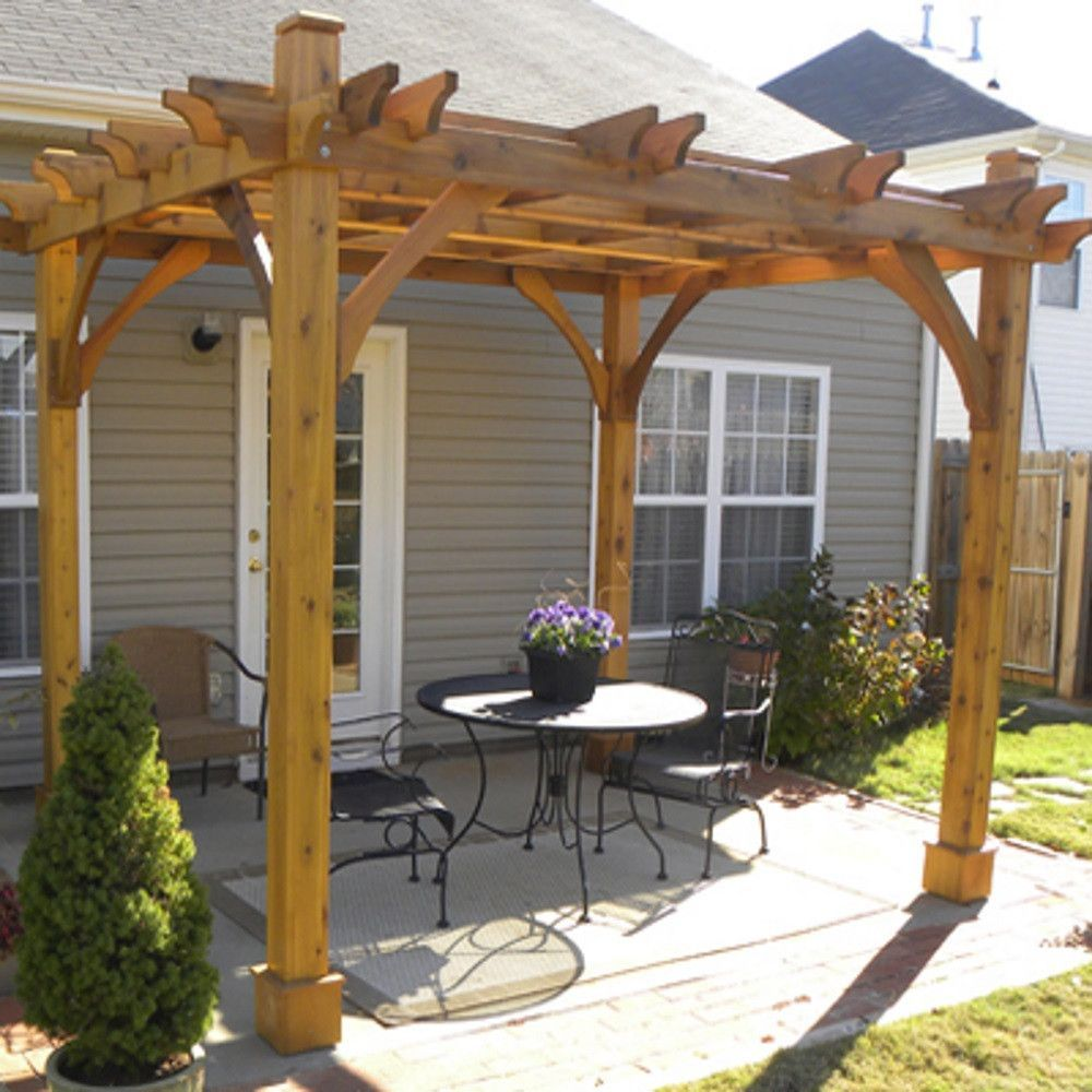 8 X 10 4 Post Breeze Pergola Pergola Patio Outdoor Pergola Pergola