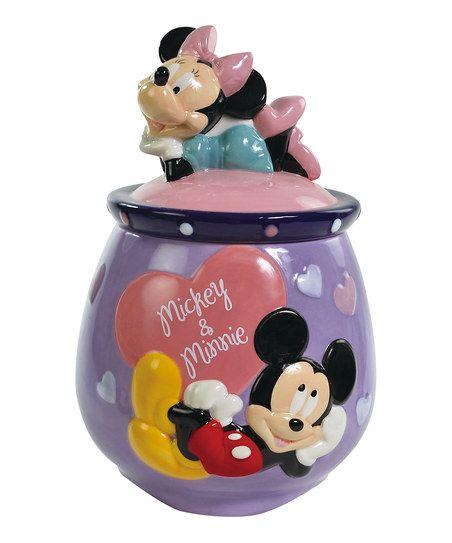 Mickey & Minnie Cookie Jar