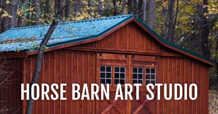 Art Studio in a Barn Horse barn, Horse barns, Art studio