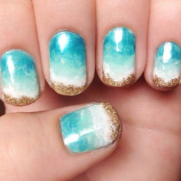 Nail Designs Inspired By Beach And Summers In 2018 Gel Nails