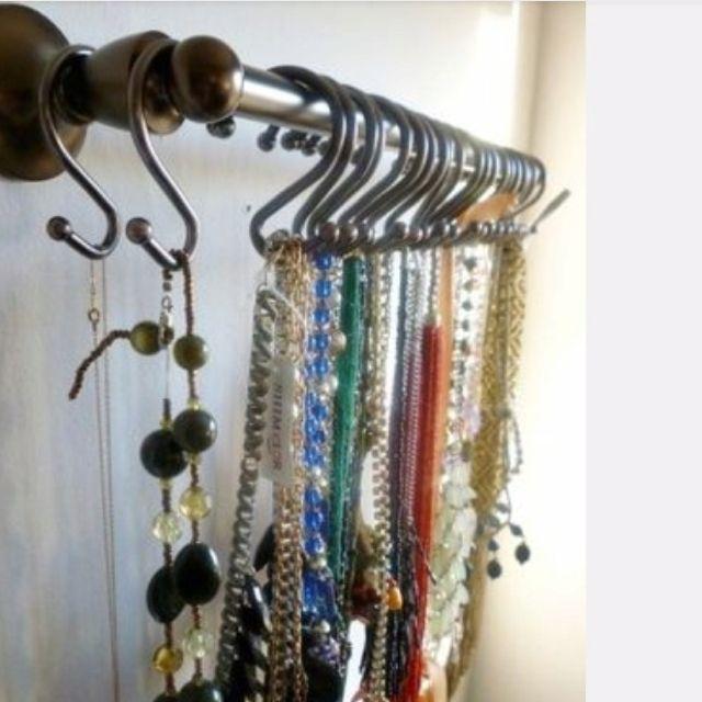 Necklace Storage Idea! - http://ideasforho.me/necklace-storage-idea-2/ - #home decor #design #home decor ideas #living room #bedroom #kitchen #bathroom #interior ideas