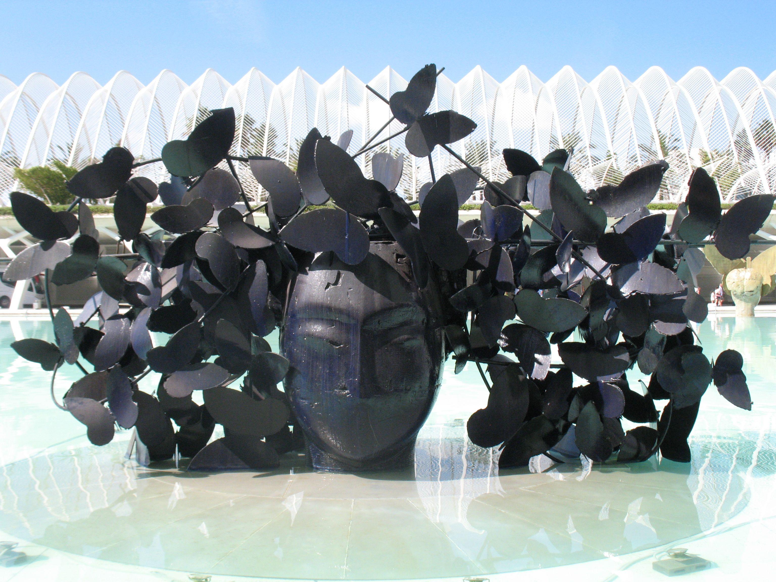 Kunst in het water van het CAC.