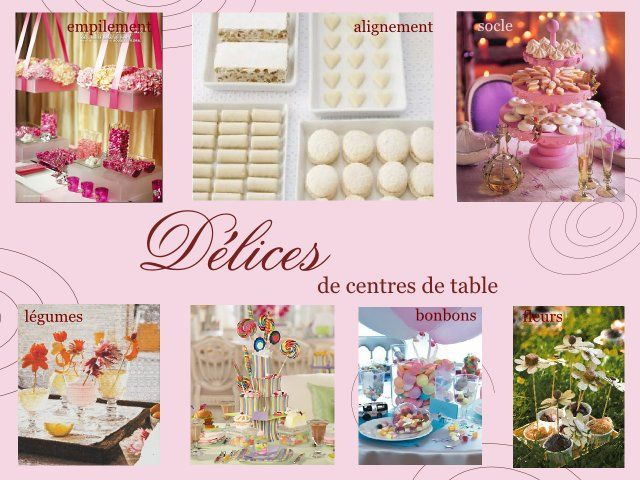 Mariage gourmandise centre de table deco pinterest gourmandise theme d - Plan de table mariage gourmandise ...