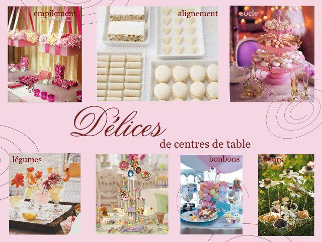 Mariage gourmandise centre de table deco pinterest gourmandise th me mariage et table - Comment faire un centre de table pour mariage ...