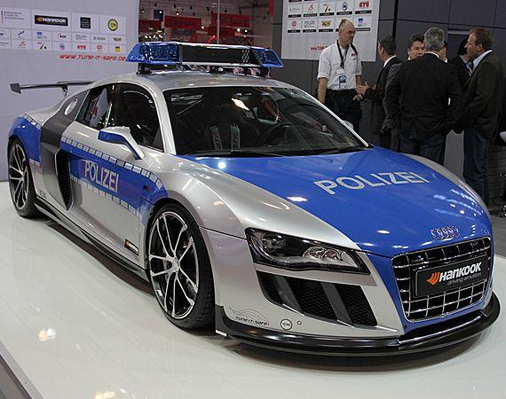 Abt Audi R8 Gtr Polizei World S Fastest Police Car Police Cars Old Police Cars Police