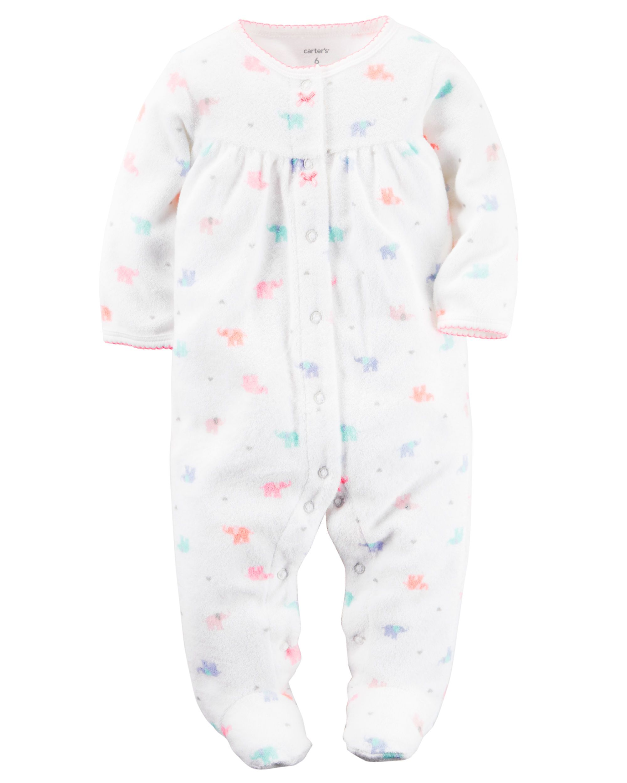 7f63c4a6a0d0 Baby Girl French Terry Snap-Up Sleep   Play