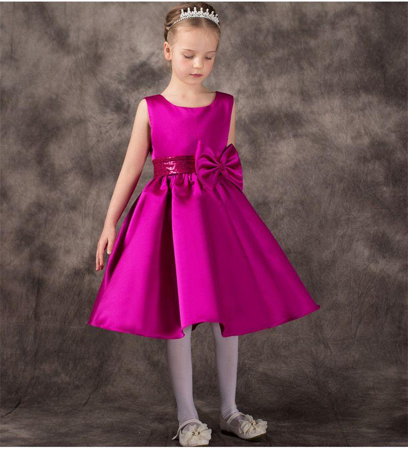 vestidos elegantes de niña en tafetan - Buscar con Google | ropa de ...