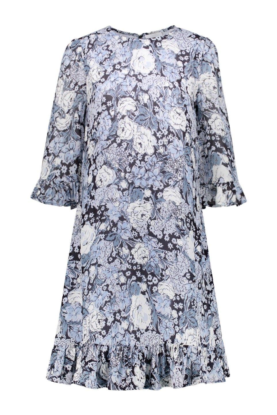 d8fc09c3b2 Ganni Dress Elm Georgette in Heather - F3178 1820 694 - VROUW Bloom Fashion