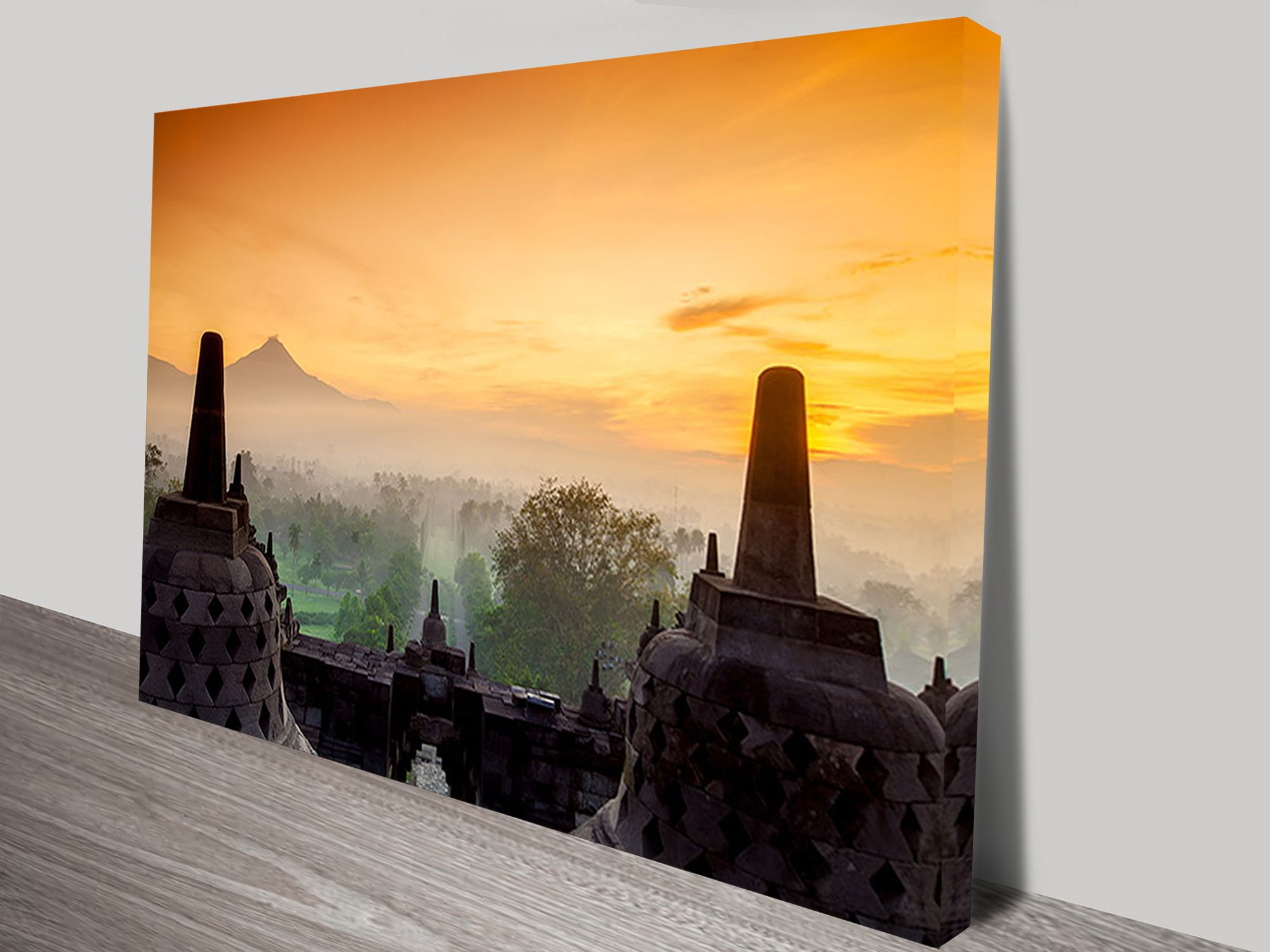 Borobudur Temple Java Art Print | Borobudur, City landscape and Temple