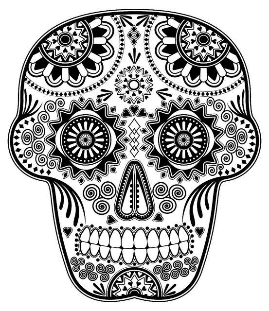 Día de los Muertos Sugar Skull (Original) | Skull design, Mexican ...