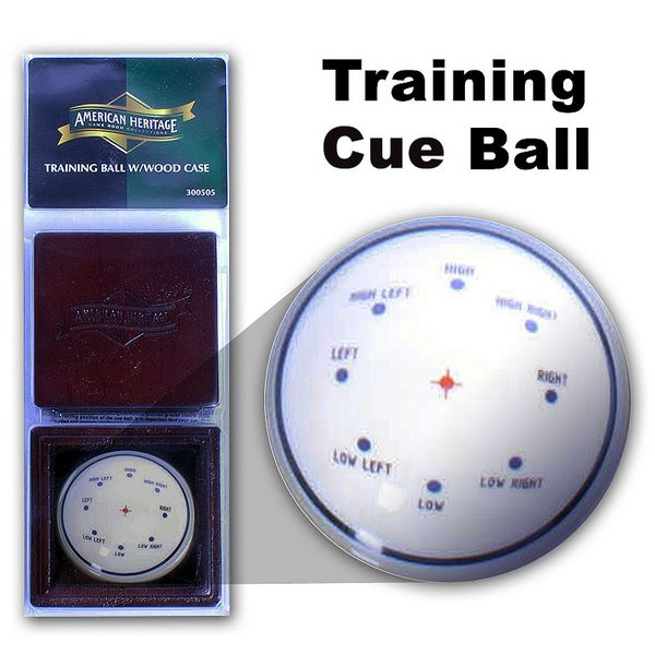 Training Cue Ball w/ Wood Case from Family Leisure