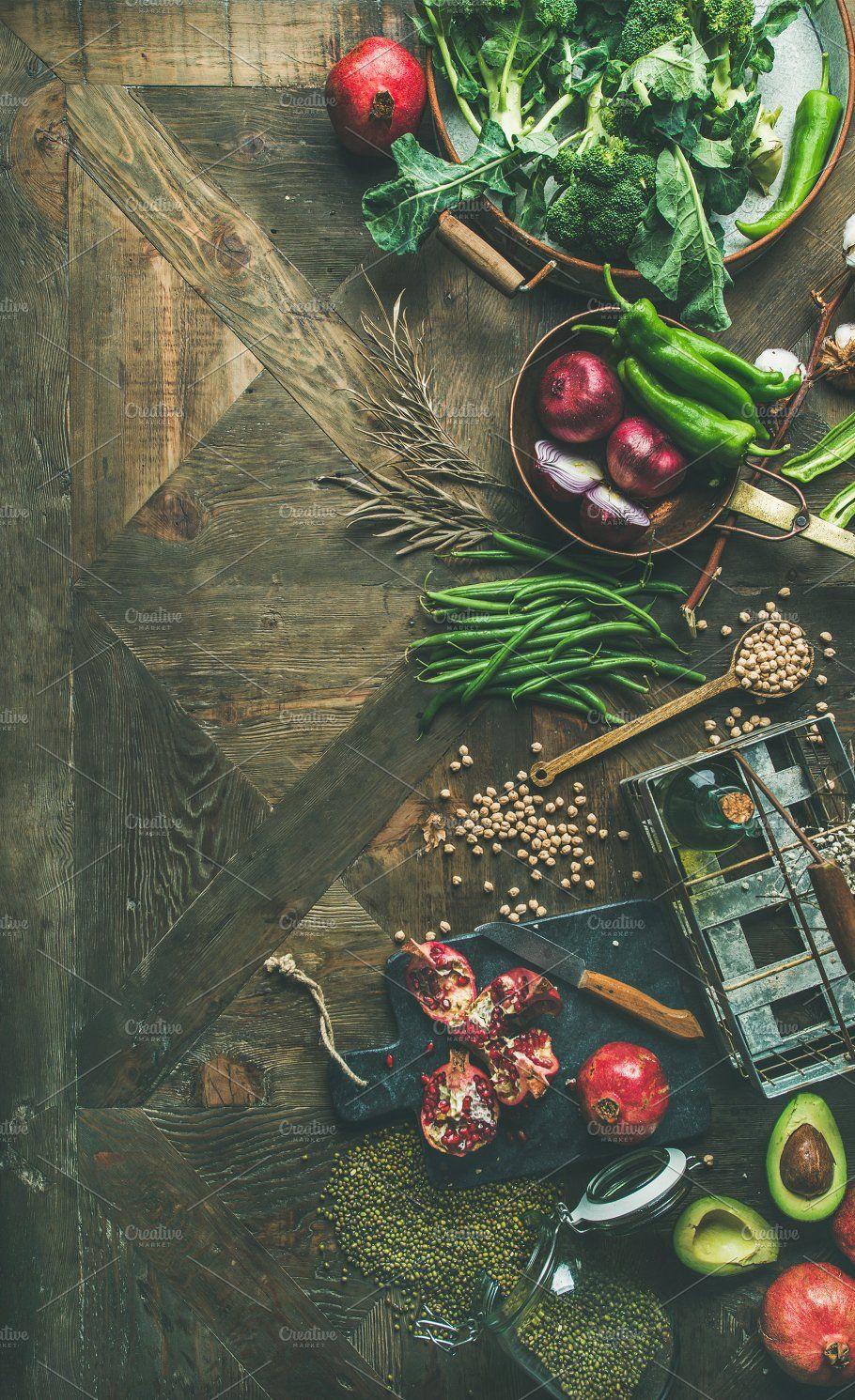 Vegan Food Cooking Ingredients Vegetarian Cooking