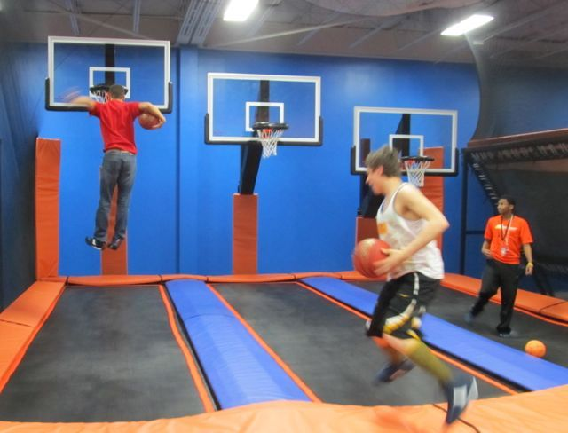 Kid Friendly 365 Things To Do In Cincinnati Sky Zone Basketball Court Layout Outdoor Basketball Court