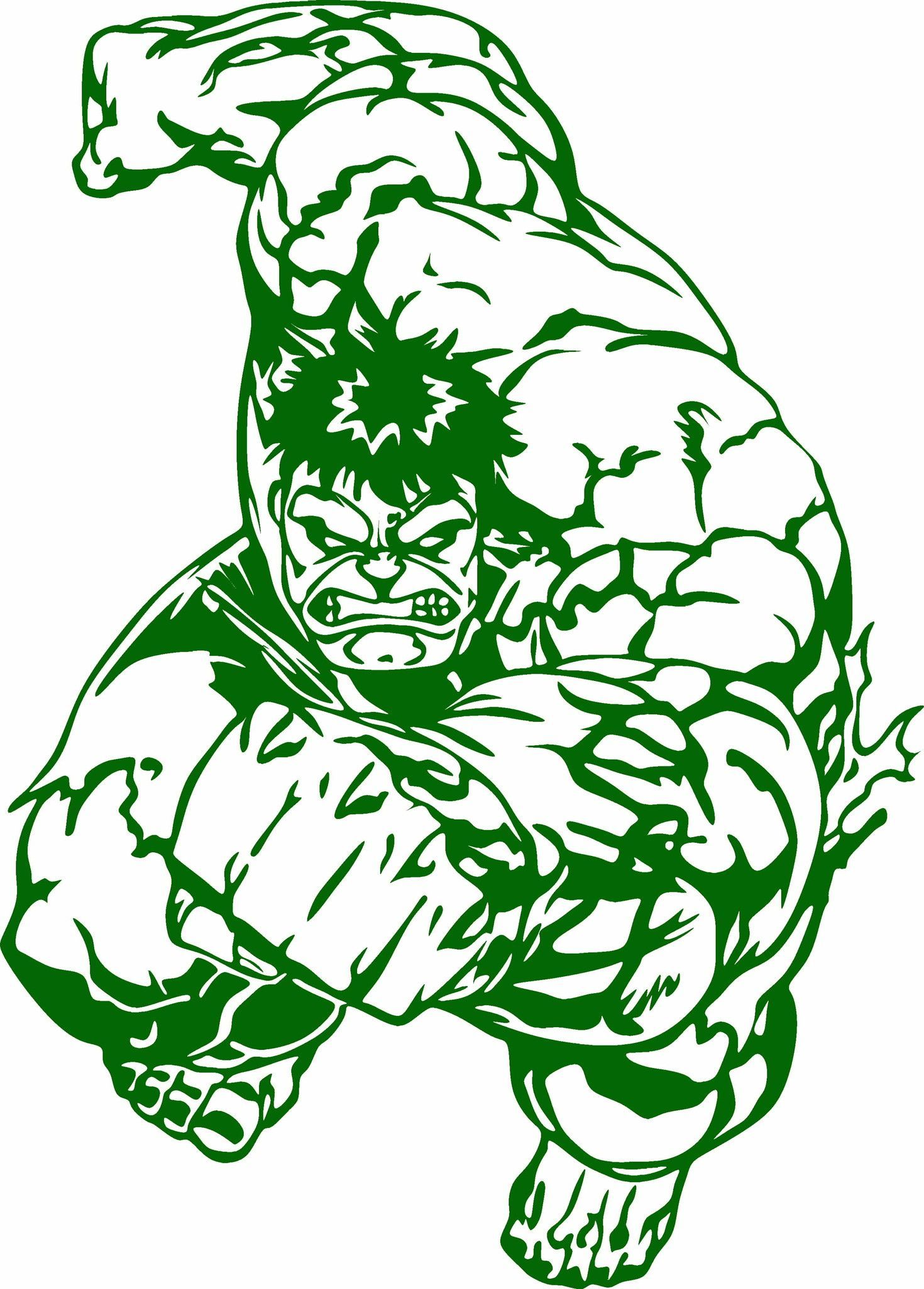 Incredible Hulk Wall Stickers Hulk Running Vinyl Cut Out Decal Choose Your Color And