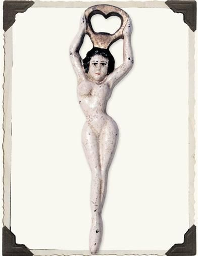 Naked Nude Lady in Waiting Bottle Opener Victorian Reproduction Victorian Trading Company . Cast Iron
