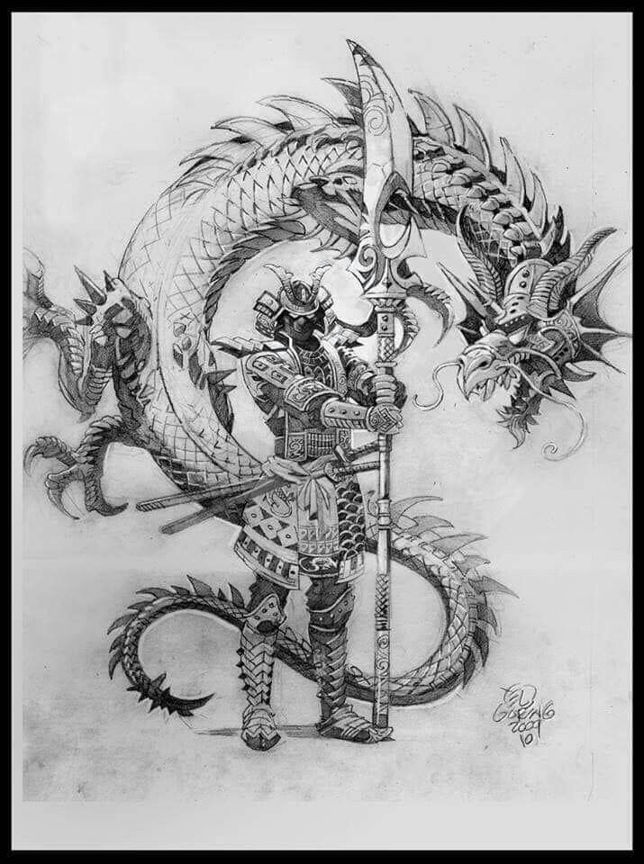 Pin By Linda Gaddy On Dragons In 2019 Samurai Tattoo Warrior