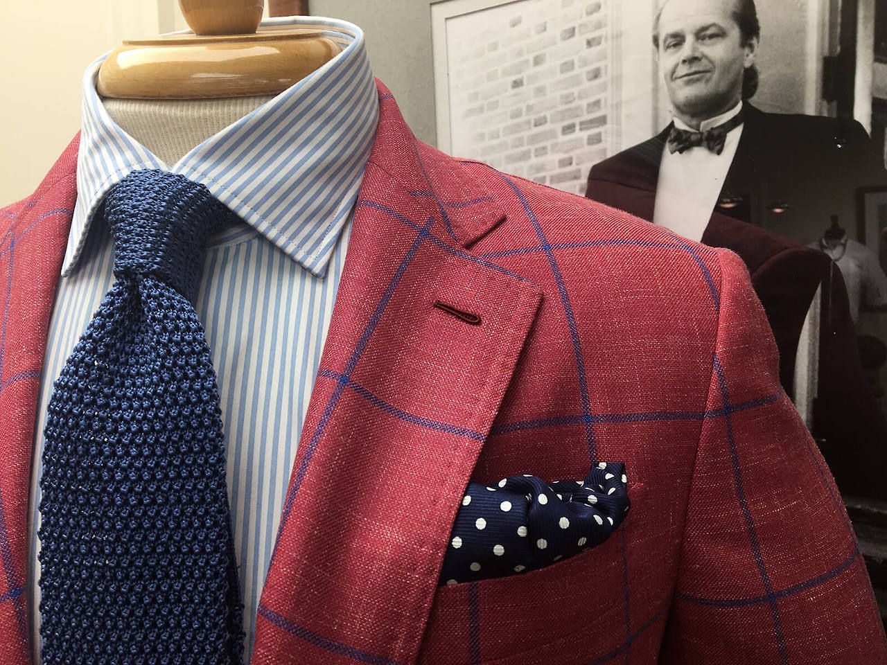 """70d767511da1 wmkingclothiers: """"Our Version of Casual Friday It's time to dress up again.  Sport coat – Nikky Shirt – Peter Millar Knit tie – Robert Jensen Pocket  square ..."""