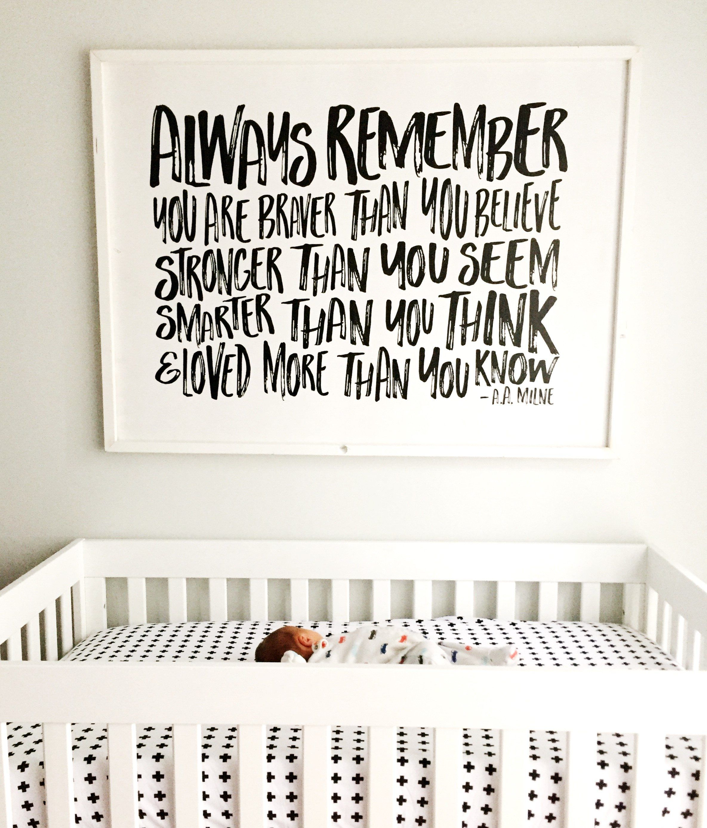 Always Remember You Are Braver Free Shipping Wood Sign