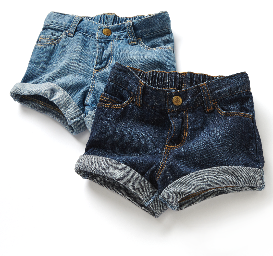 These babies are sure add a little spring to your little one's step this spring. Our Old Navy rolled-cuff girls shorts are as fashionable as they are cute with a comfort you won't believe.