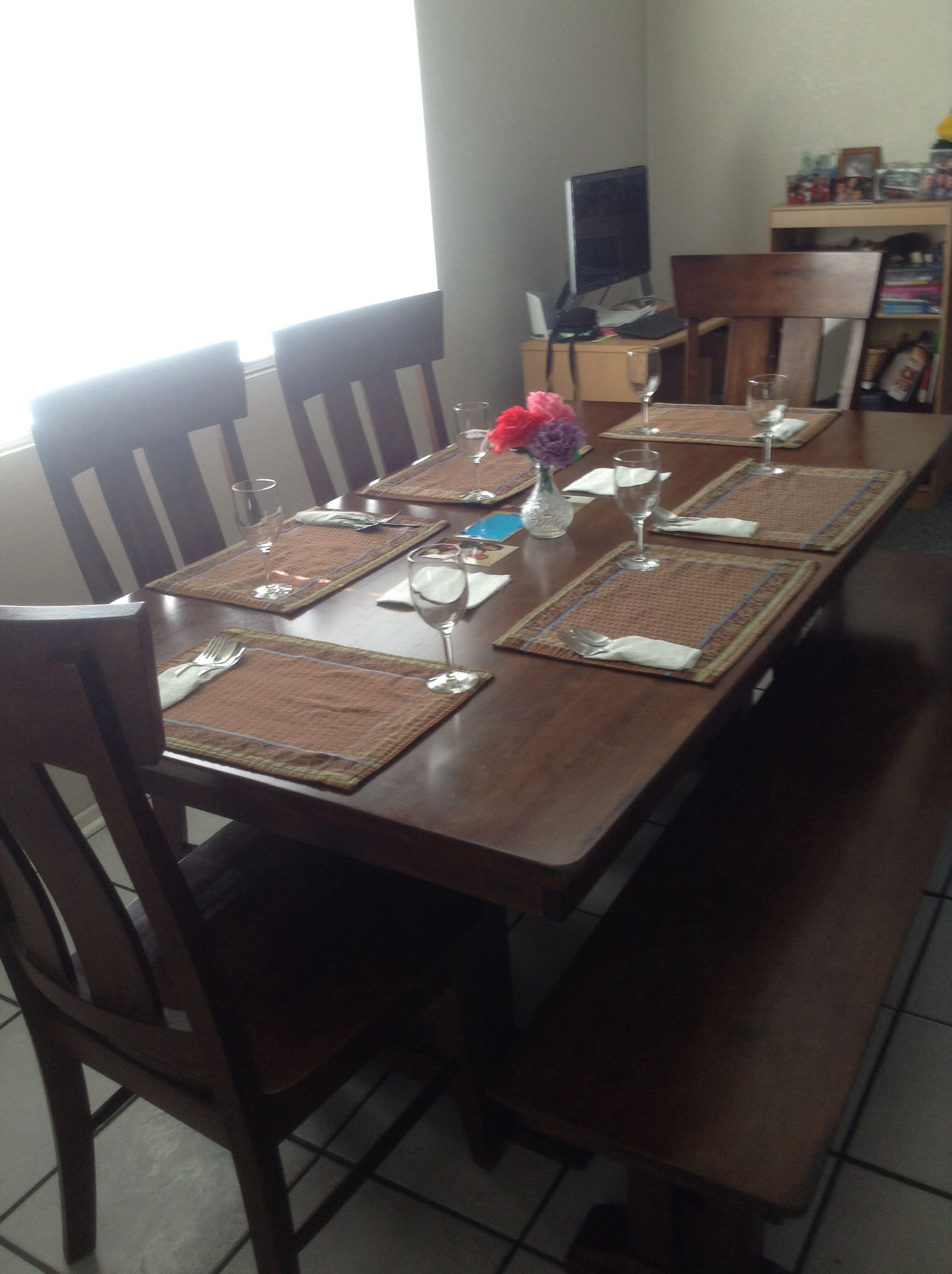 We did a nice table to eat on