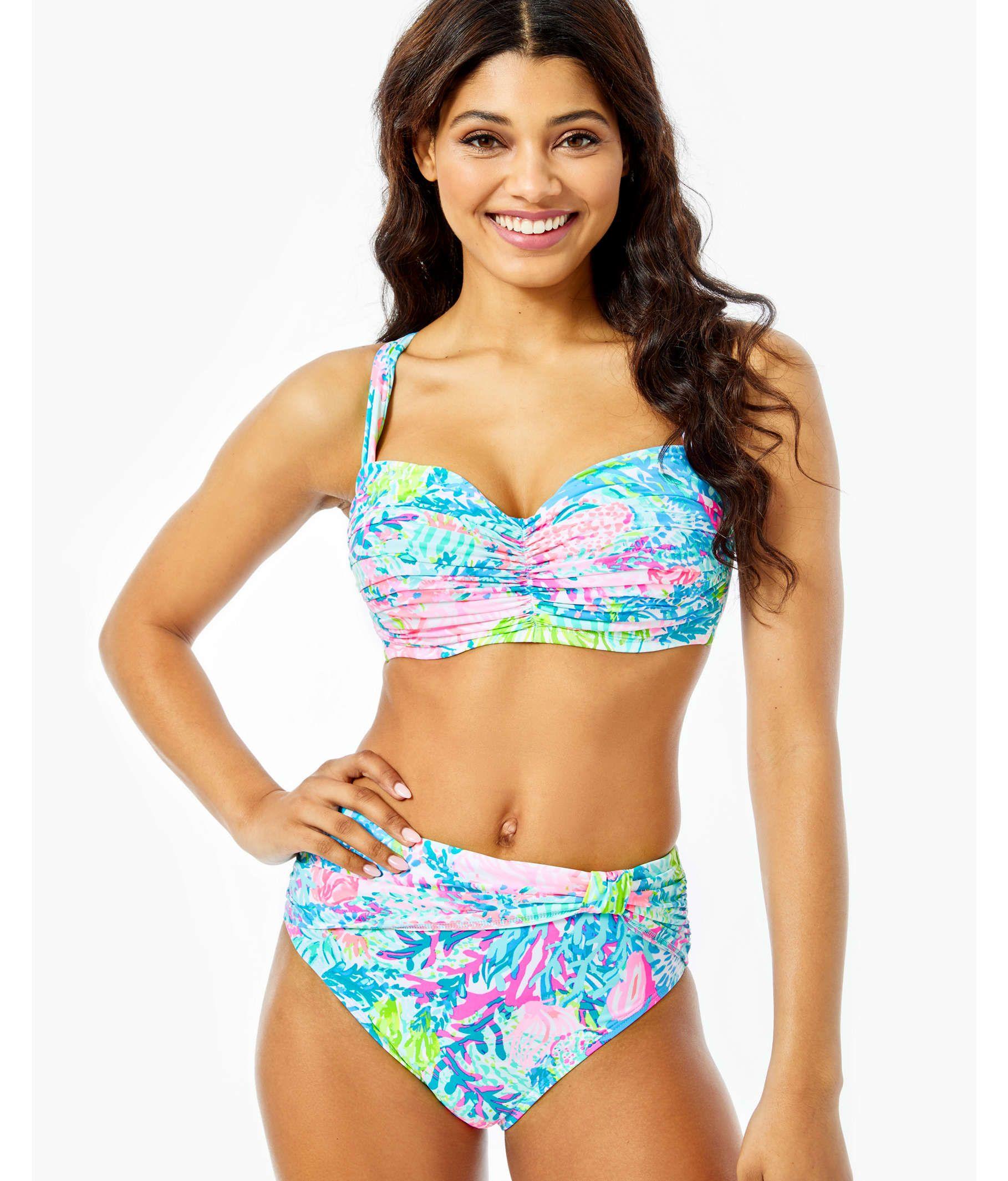 Drea Bikini Top D Cup In Multi Fished My Wish Lilly Pulitzer In 2020 Bikini Tops Bikinis Swimwear