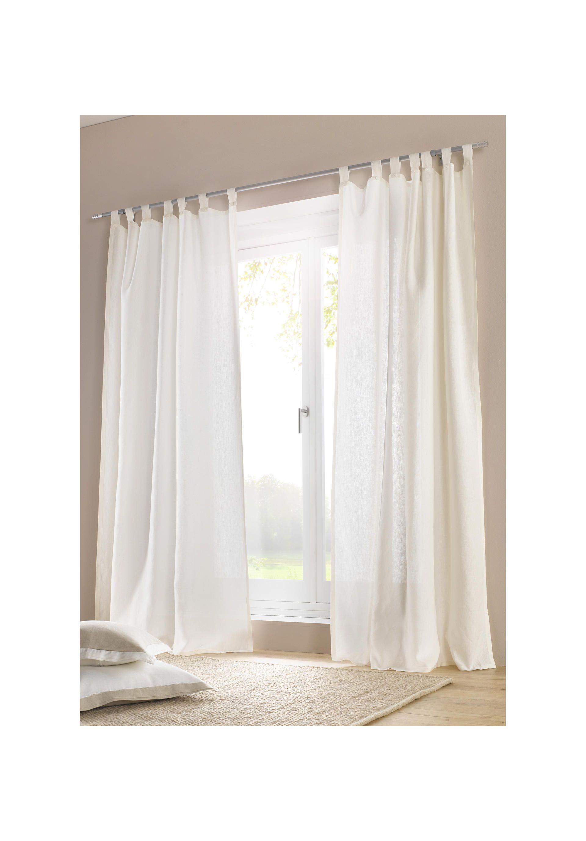 Leinen Vorhang Mit Schlaufen Schlafzimmer Vorhange Haus Deko Leinen Gardinen