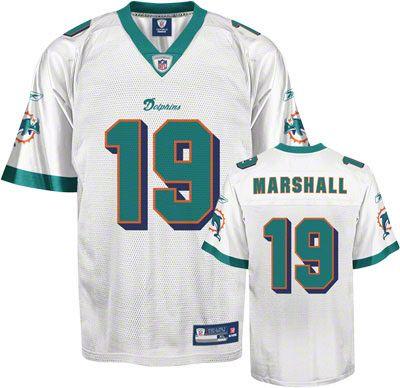 5b24587ca ... Miami Reebok Miami Dolphins Brandon Marshall 19 White Authentic Jersey  Sale Joey Porter ...
