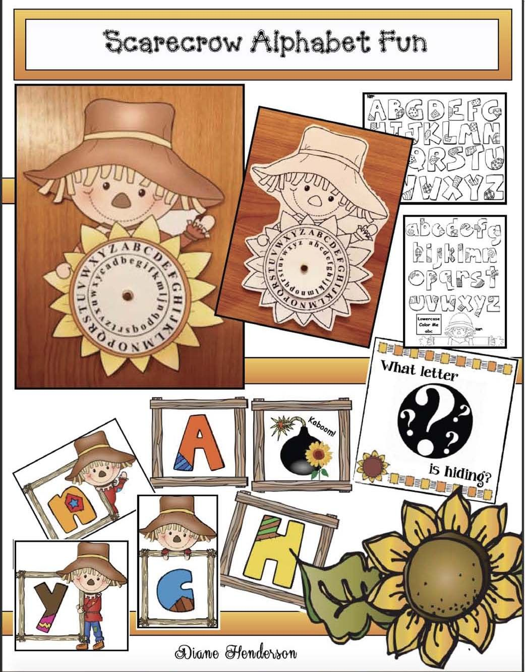 Practicing The Alphabet With A Cute Scarecrow Craft