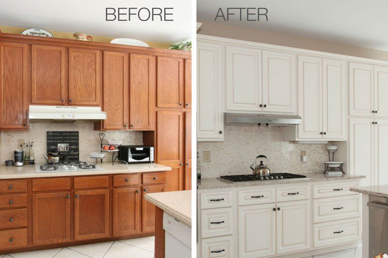 Best Amazing Kitchen Refacing Transformations With Before 400 x 300