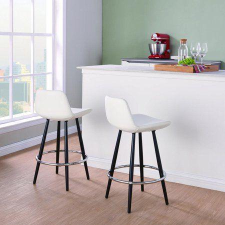 Terrific Mainstays Upholstered Bucket Seat Counter Stool Set Of 2 Machost Co Dining Chair Design Ideas Machostcouk