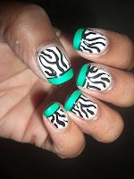 Zebra with French Tips
