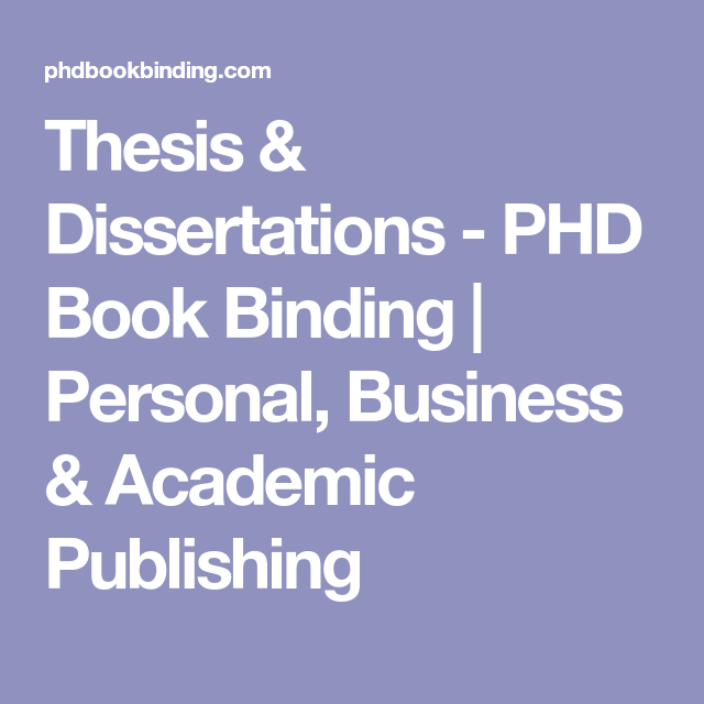 Thesi Dissertation Phd Book Binding Personal Busines Academic Publishing In 5 Days